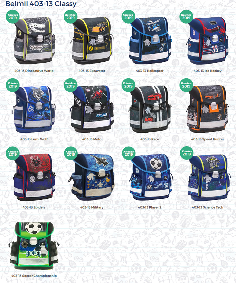 d0ce9b91a2 Školské batohy Belmil Mini fit 405-33 sú jedinečné svojou nízkou váhou