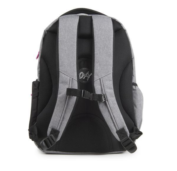 Študentský batoh OXY Style GREY LINE Pink ... a5b6a82810