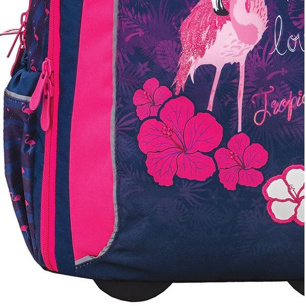 7eacd8d776 ... Školský batoh Belmil 338-45 Flamingo na kolieskach ...
