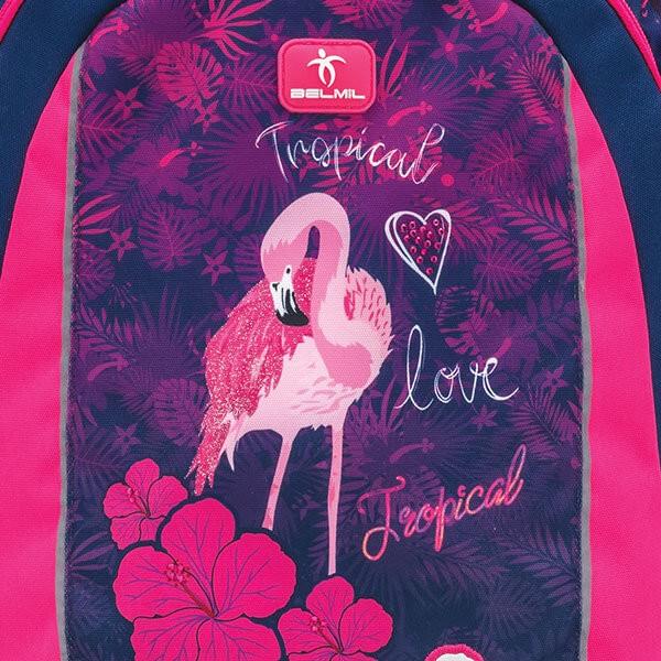 df6a61b885 ... Školský batoh Belmil 338-45 Flamingo na kolieskach