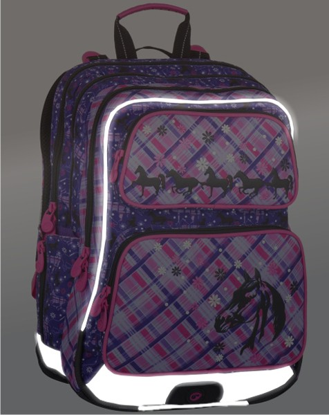 44b52a38e ... Školský batoh Bagmaster GALAXY 7 B + prívesok a dopravné ZDARMA