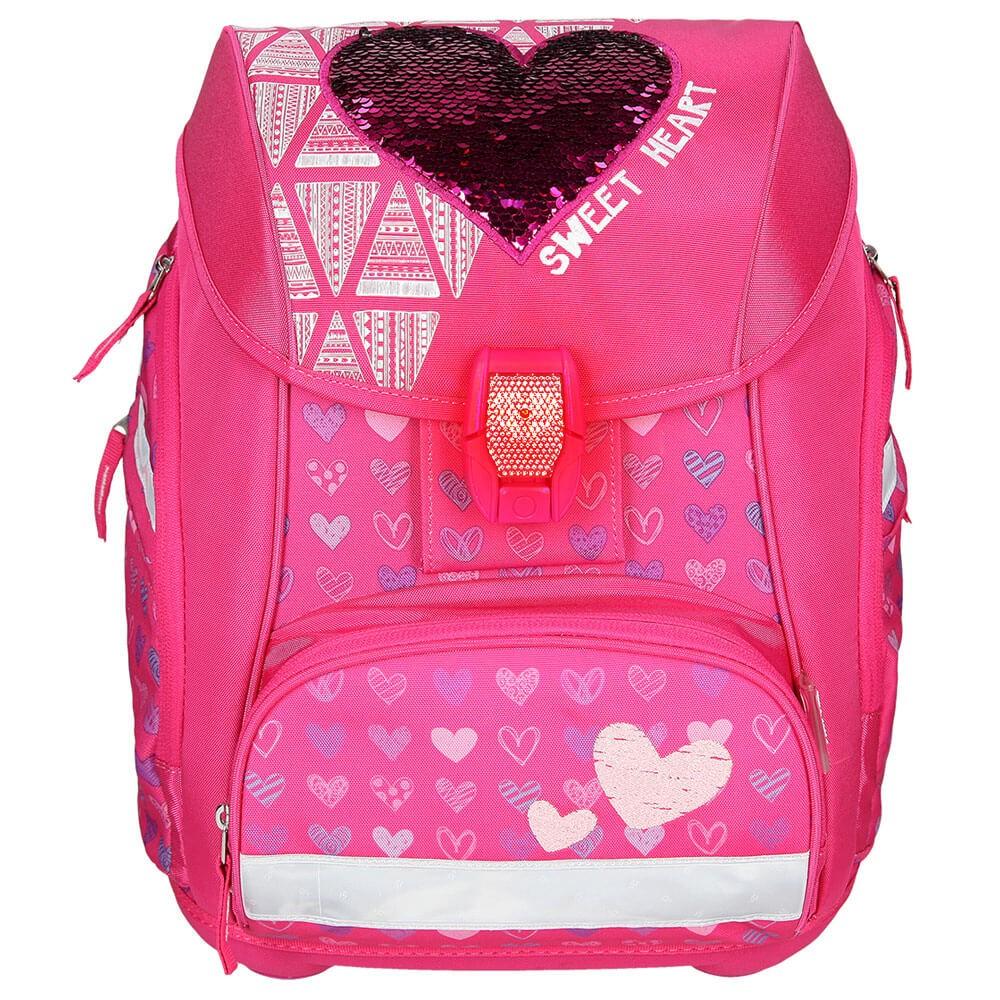 98ffb2029c ... Školská taška SPIRIT Pro light Červené srdce SET ...