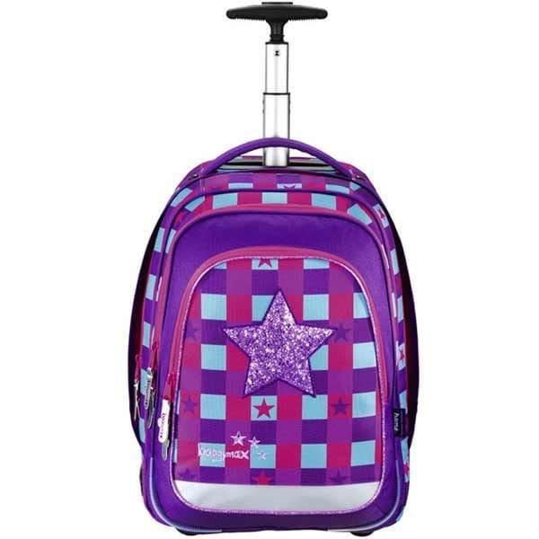 6e3f207553 Školské tašky na kolieskach vo farbe fialová