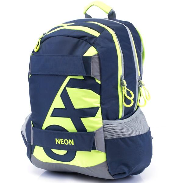 cab96e266f2 Študentský batoh OXY Sport Neon Dark Blue