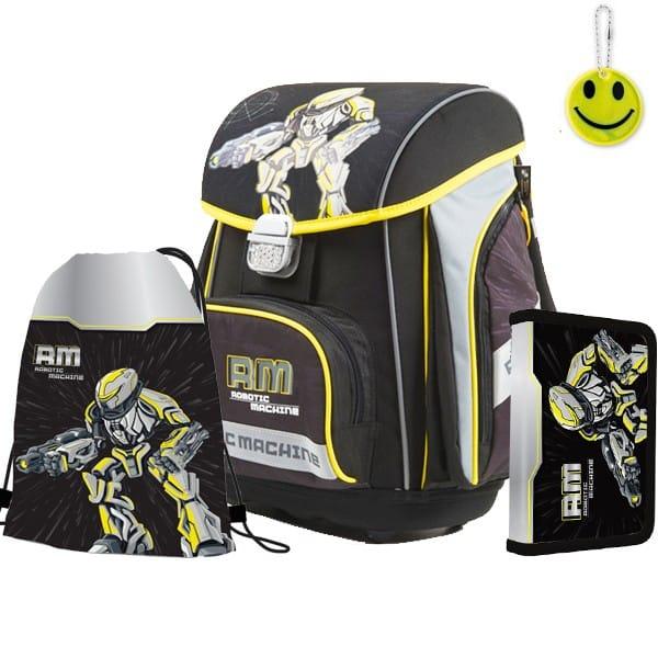 4a6b5a6444 Školská taška Premium Robot - SET + reflexný prívesok a dorpava zdarma