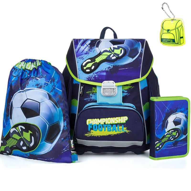 2c92cbf083 Školská taška Premium Futbal SET + reflexný prívesok a doprava zdarma