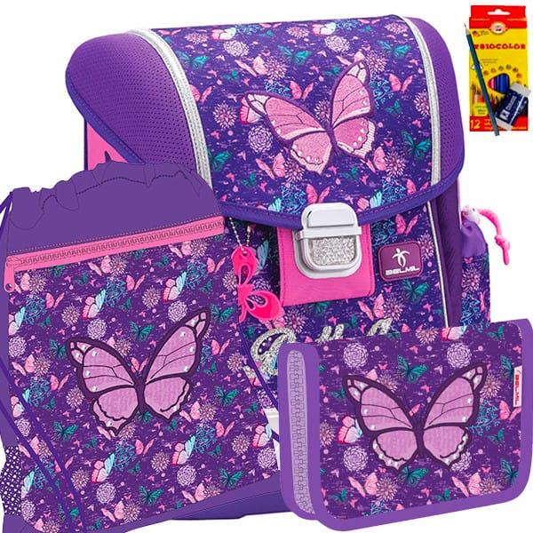 849ee4da8 Školský batoh BELMIL 403-13 Butterfly - SET + potreby Koh-i-noor a doprava  zdarma