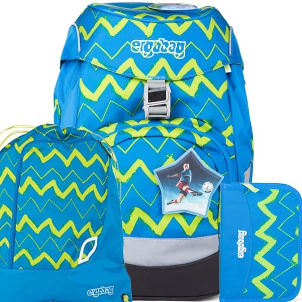 Školský batoh Ergobag prime modrý Zig Zag SET a doprava zdarma 375d4d7968