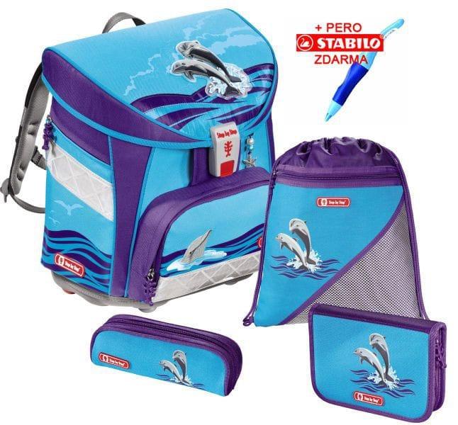 16fac7b547892 Školská taška Hama Step by Step Light Delfíni set + stabilo a doprava zdarma