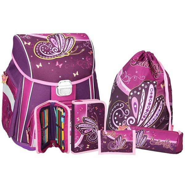 9640f1628a Školská taška SPIRIT Start Motýľ SET