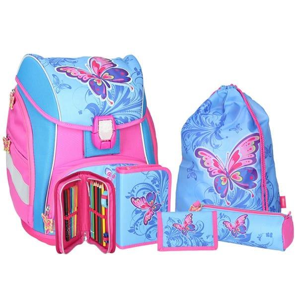 062d4f27a7 Školská taška SPIRIT Pro light Motýľ SET