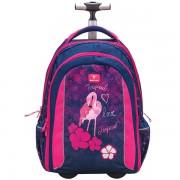 2f747e818b Školský batoh Belmil 338-45 Flamingo na kolieskach