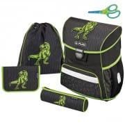 b31187f0cd Školská taška Herlitz Loop Dino zelený 4d. set