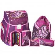 467031a7ae Školská taška SPIRIT Start Motýľ SET