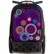 ba13260375 Školská taška na kolieskach Nikidom Roller vo farbe fialová ...