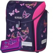b74092d100 Školská taška Herlitz Midi Dúhový motýľ a peračník zdarma