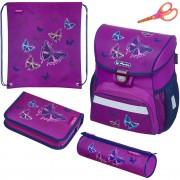 c894216638 Školská taška Herlitz Loop Trblietavý motýľ 4d. set